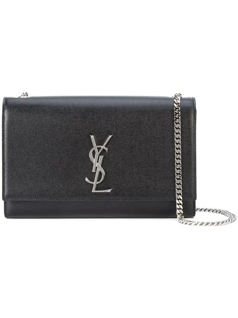 Saint Laurent Medium Kate Monogram Shoulder Bag - Farfetch In Black ... e2111af293e16