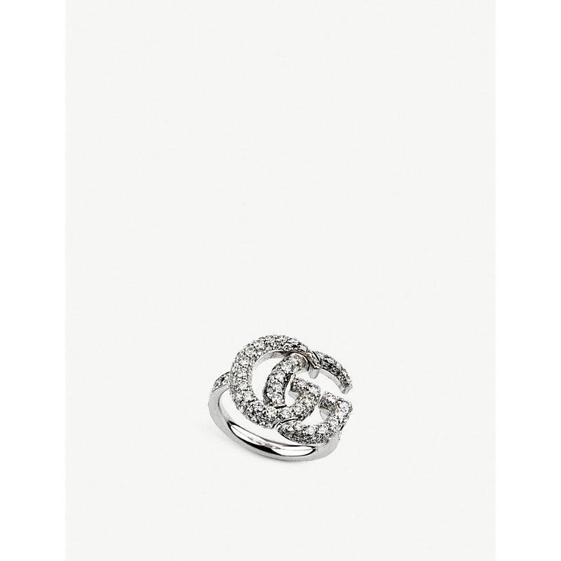 7db5958a8 Gucci Gg Running 18Ct White-Gold And Diamond Ring | ModeSens