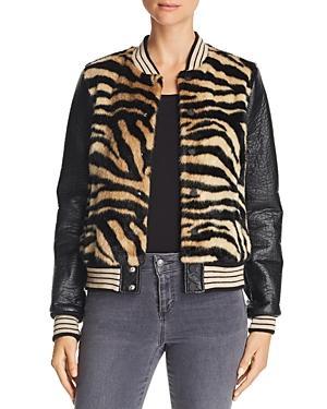 598781517 The Baseball Faux-Fur Snap Jacket in Wake A Sleeping Tiger