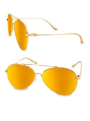 c31dc9e97c4 Aqs Tommie 60Mm Aviator Sunglasses In Orange
