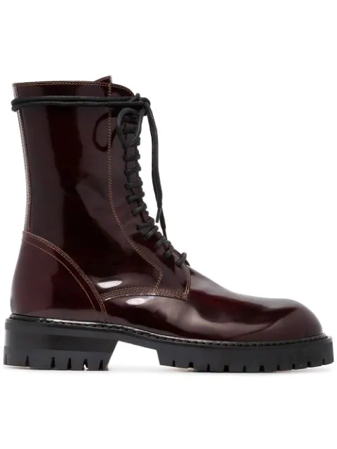 Ann Demeulemeester Burgundy 50 Lace In Red