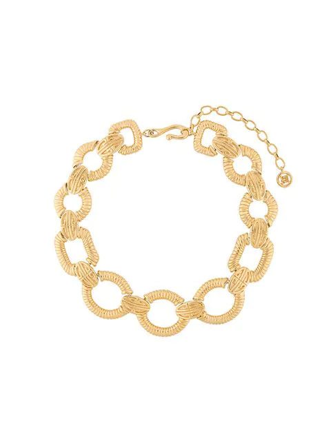 Givenchy Pre-Owned Logo Chain-Link Necklace - Gold