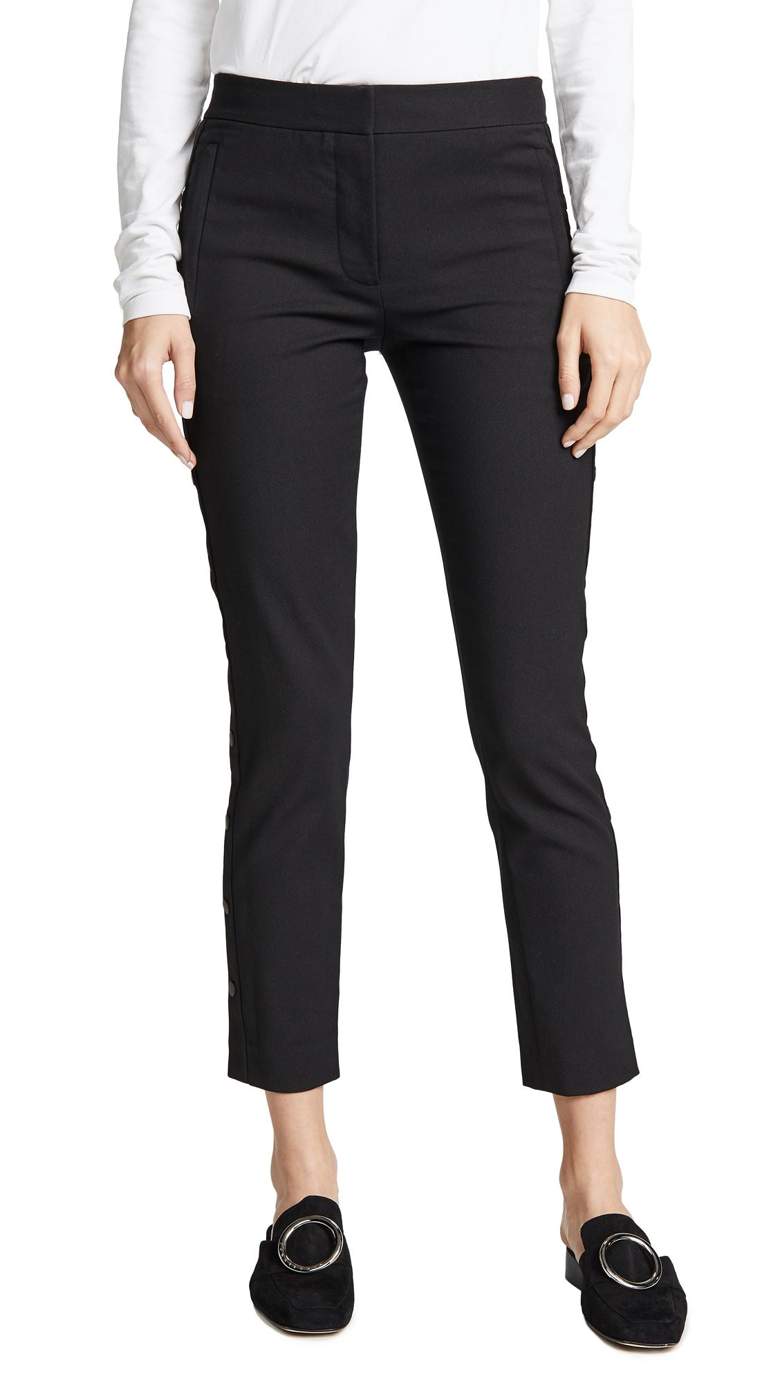 Tibi Cropped Skinny Pants In Black