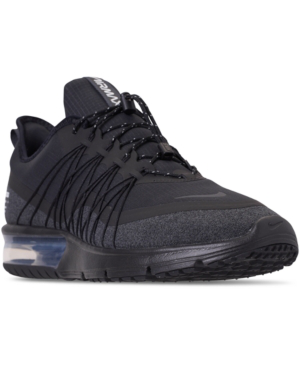4672f9251e8 Men's Air Max Sequent 4 Shield Running Sneakers From Finish Line in  Black/Anthracite-White