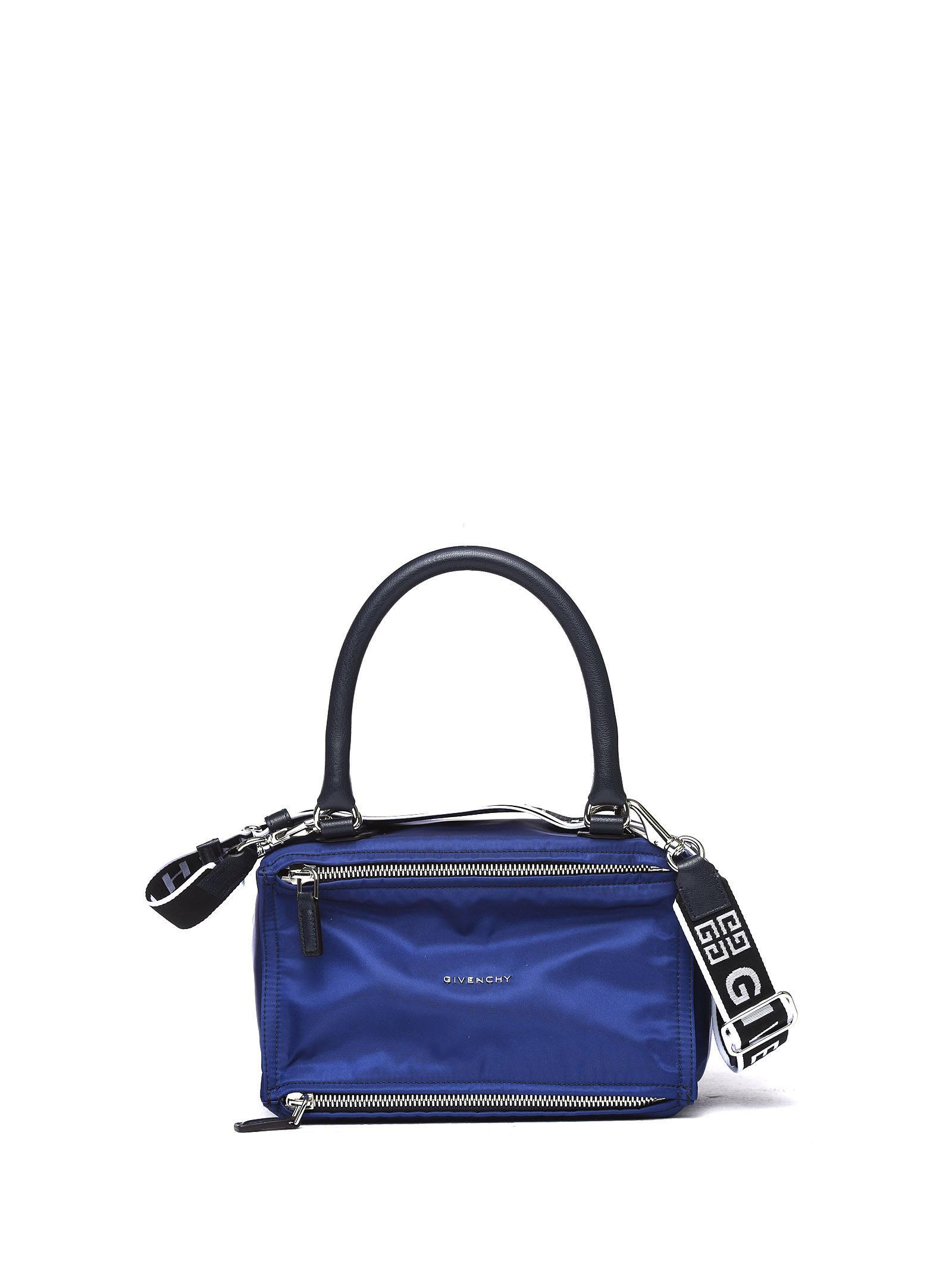 0d2782c34c Givenchy Pandora Small 4G Handle Bag In Blue Nylon And Leather In Dark Blue