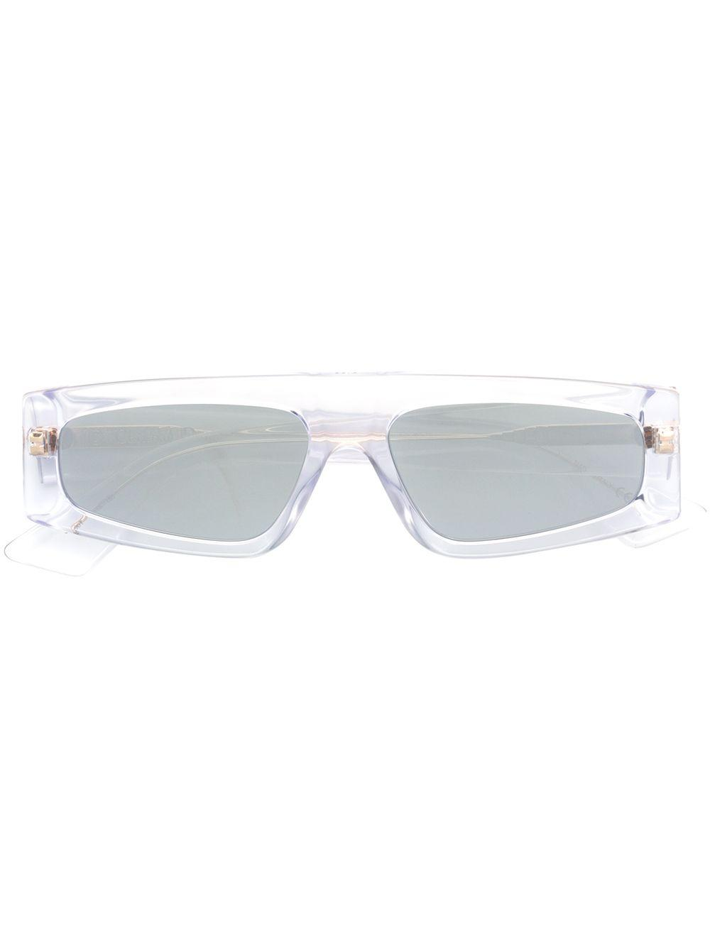 6d13a976ee2 These black acrylic embellished flat-bridged sunglasses from Dior Eyewear  feature straight arms with curved tips and tinted lenses.