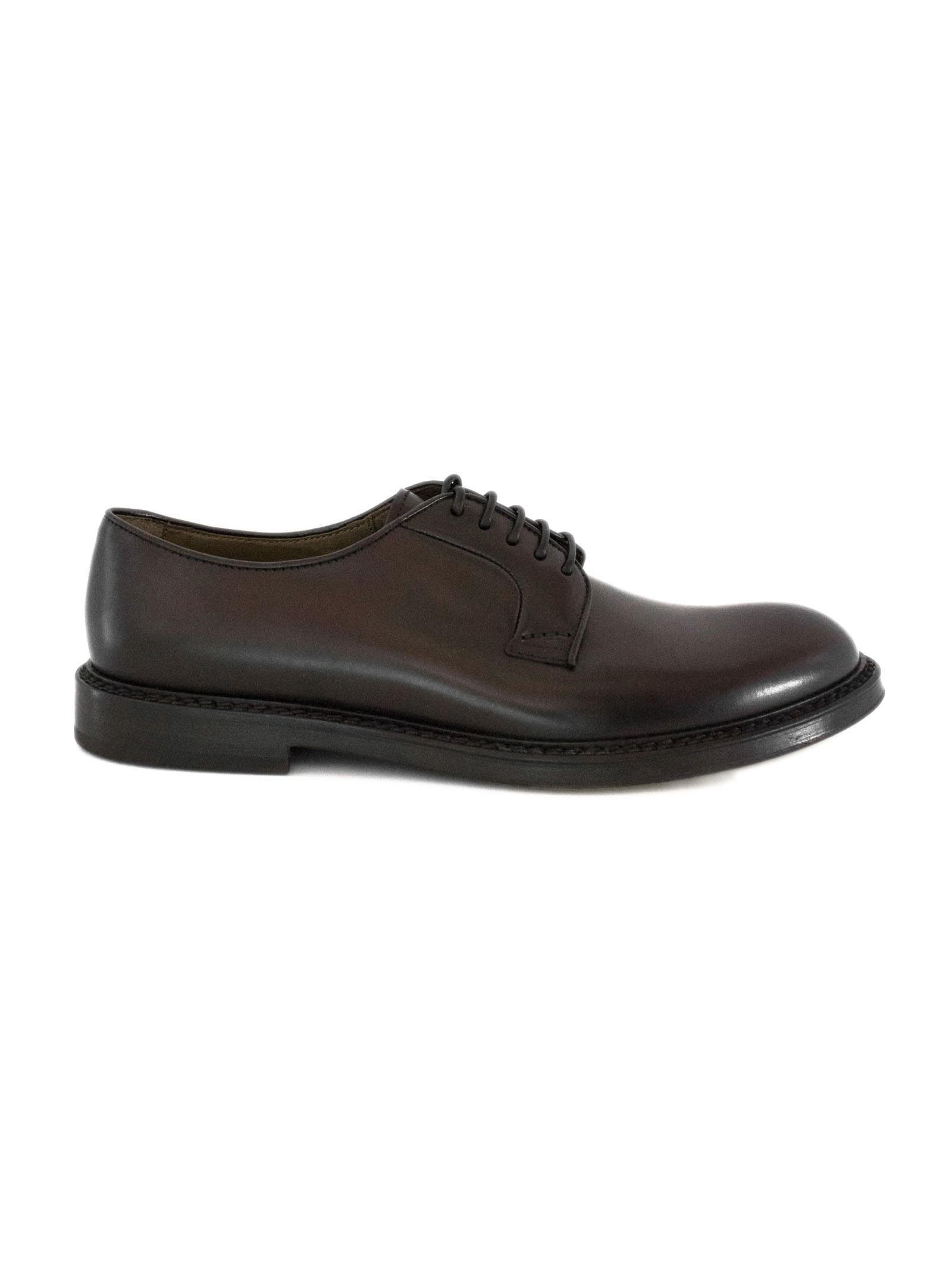444e2580aba Doucal's Brown Leather Derby Shoes. In Testa Di Moro | ModeSens
