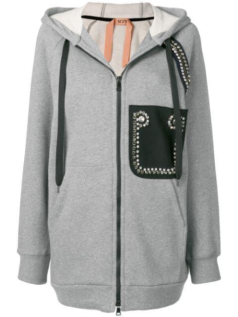 N°21 Zip In Grey