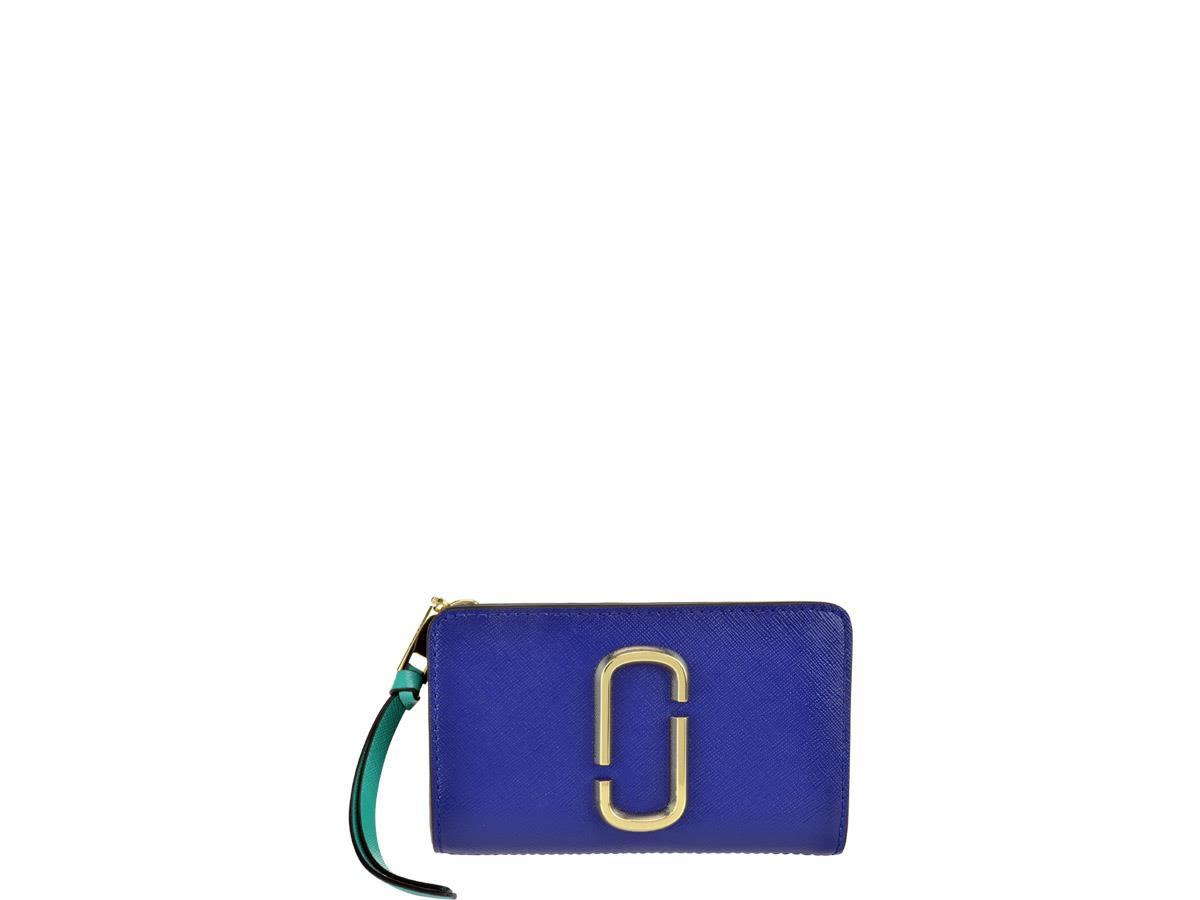 Marc Jacobs Snapshot Compact Wallet In Blue