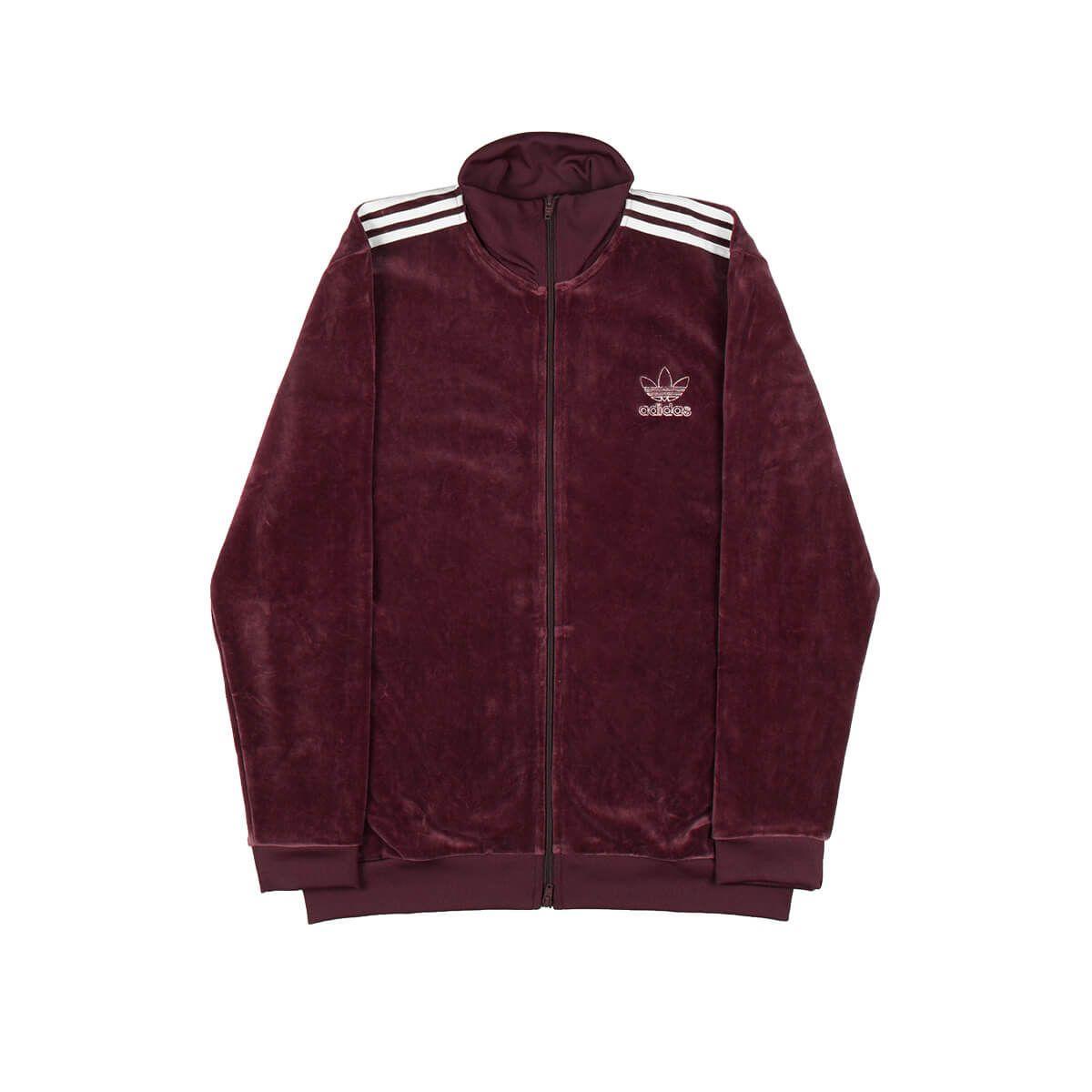 bb14ecd729d Adidas Originals Velour Bb Track Top In Red