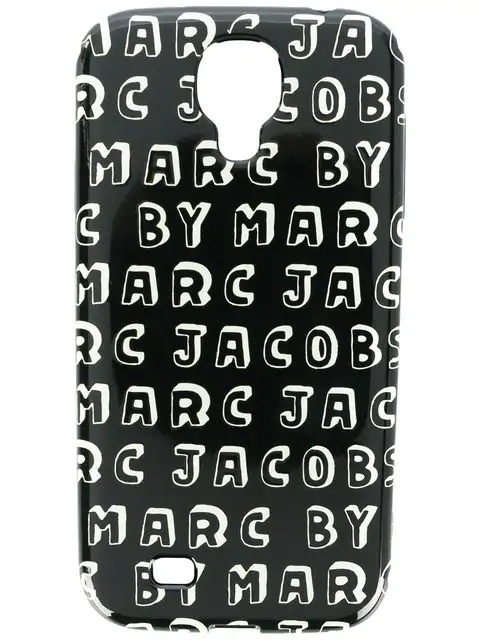 Marc By Marc Jacobs Logo Print Samsung Galaxy S4 Case In Black