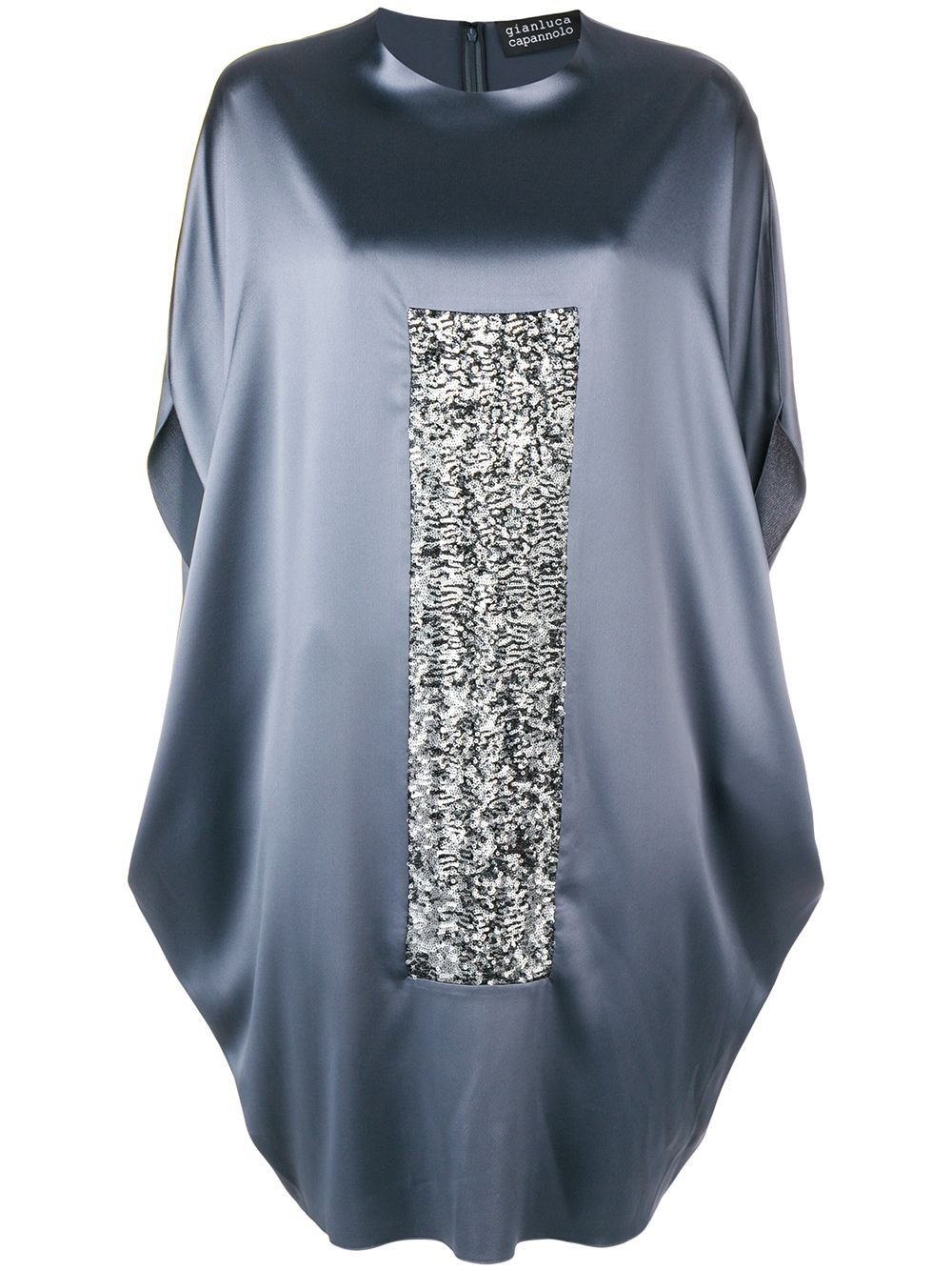 Gianluca Capannolo Oversized Sequin Panel T-shirt Dress - Grey In Gray