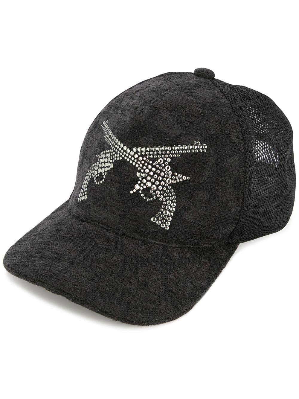 Roarguns Guns Embellished Cap - Black