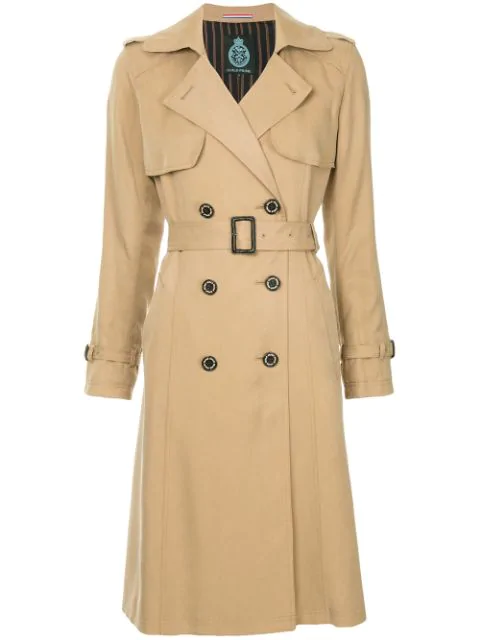 Guild Prime Double Breasted Trench Coat - Neutrals