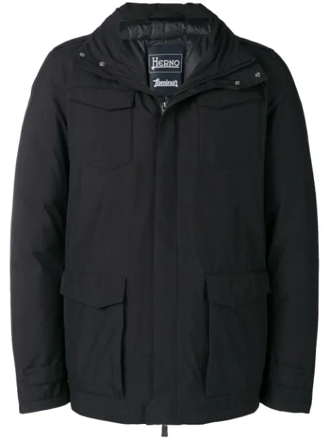 Herno Padded Zipped Jacket - Black