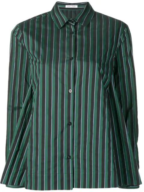Peter Taylor Striped Long-sleeve Shirt - Green