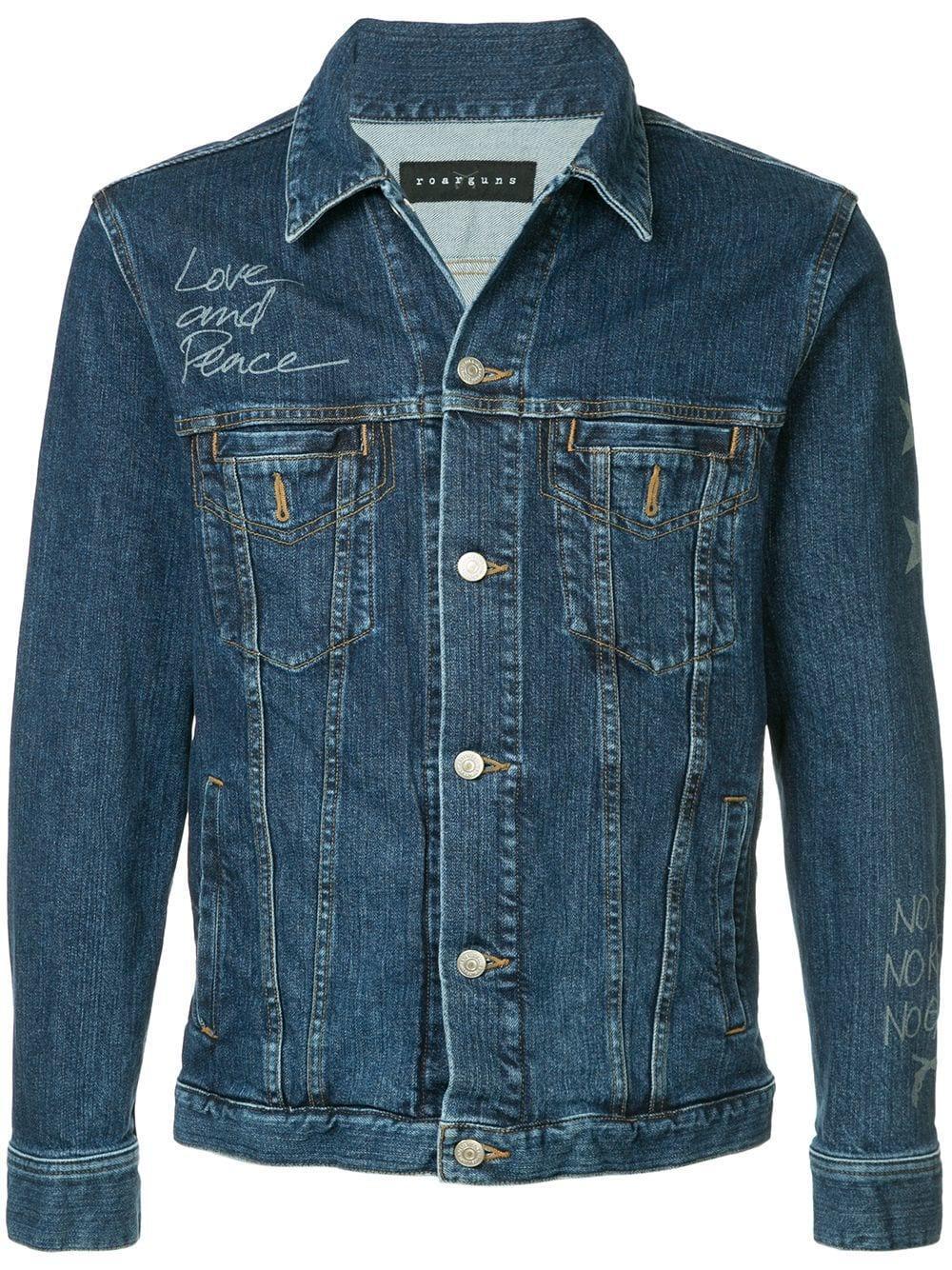 Roarguns Classic Denim Jacket - Blue