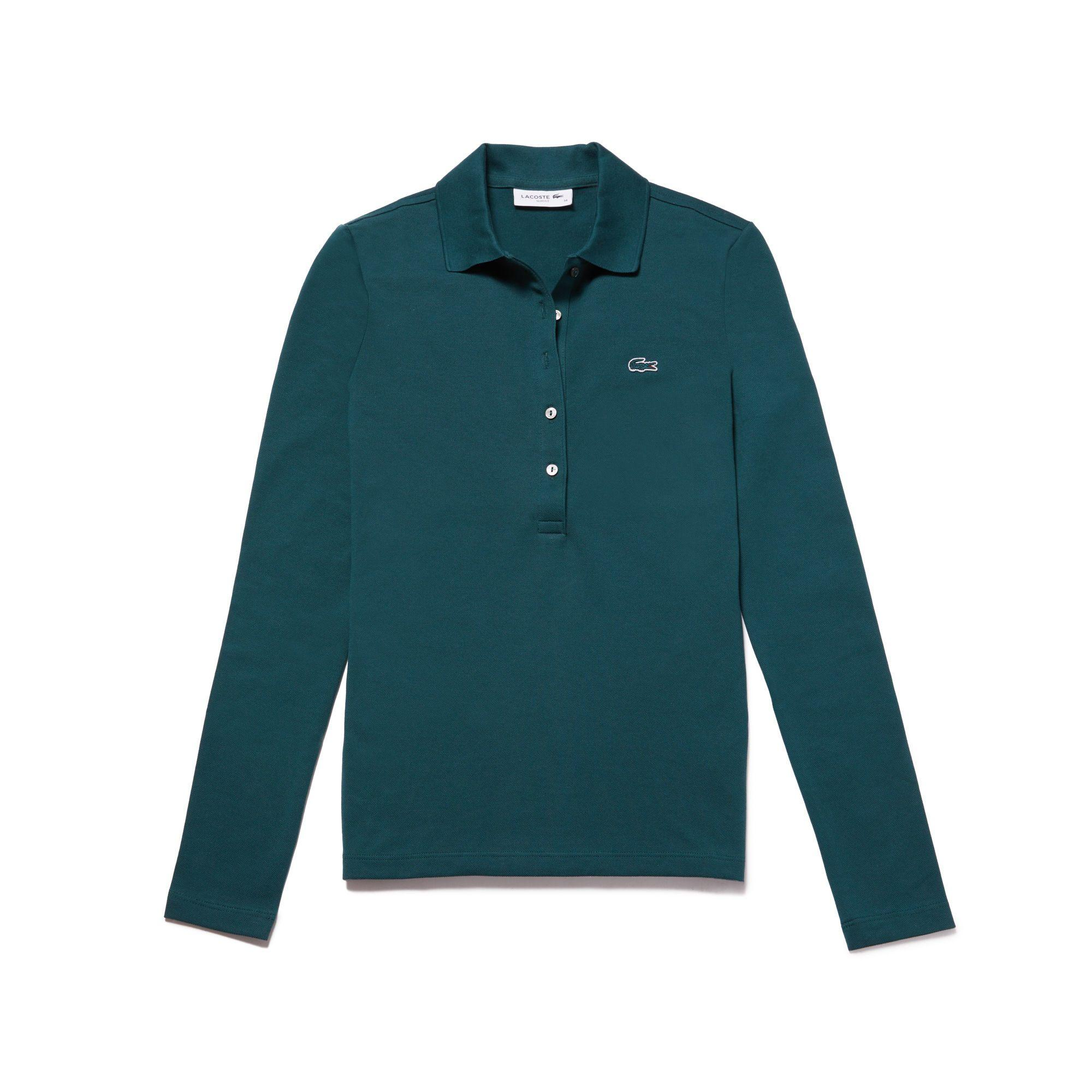 Lacoste Women's Slim Fit Stretch Mini PiquÉ Polo Shirt In Green