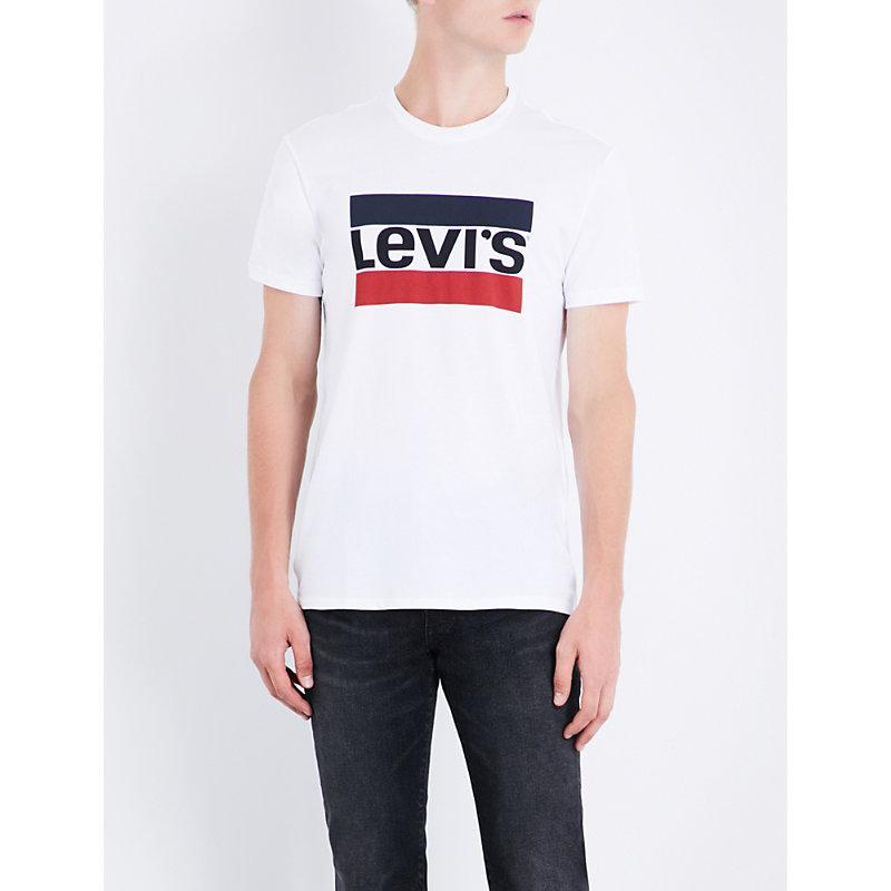 Levi's Sports-logo Cotton-jersey T-shirt In Nero