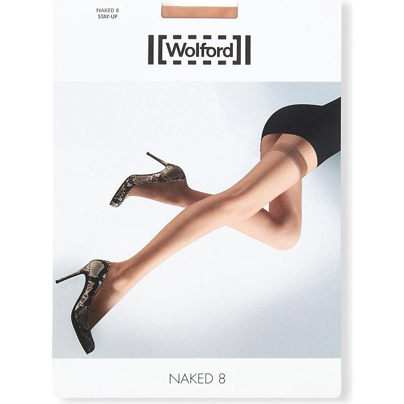 Wolford Naked 8 Hold-ups In Nero