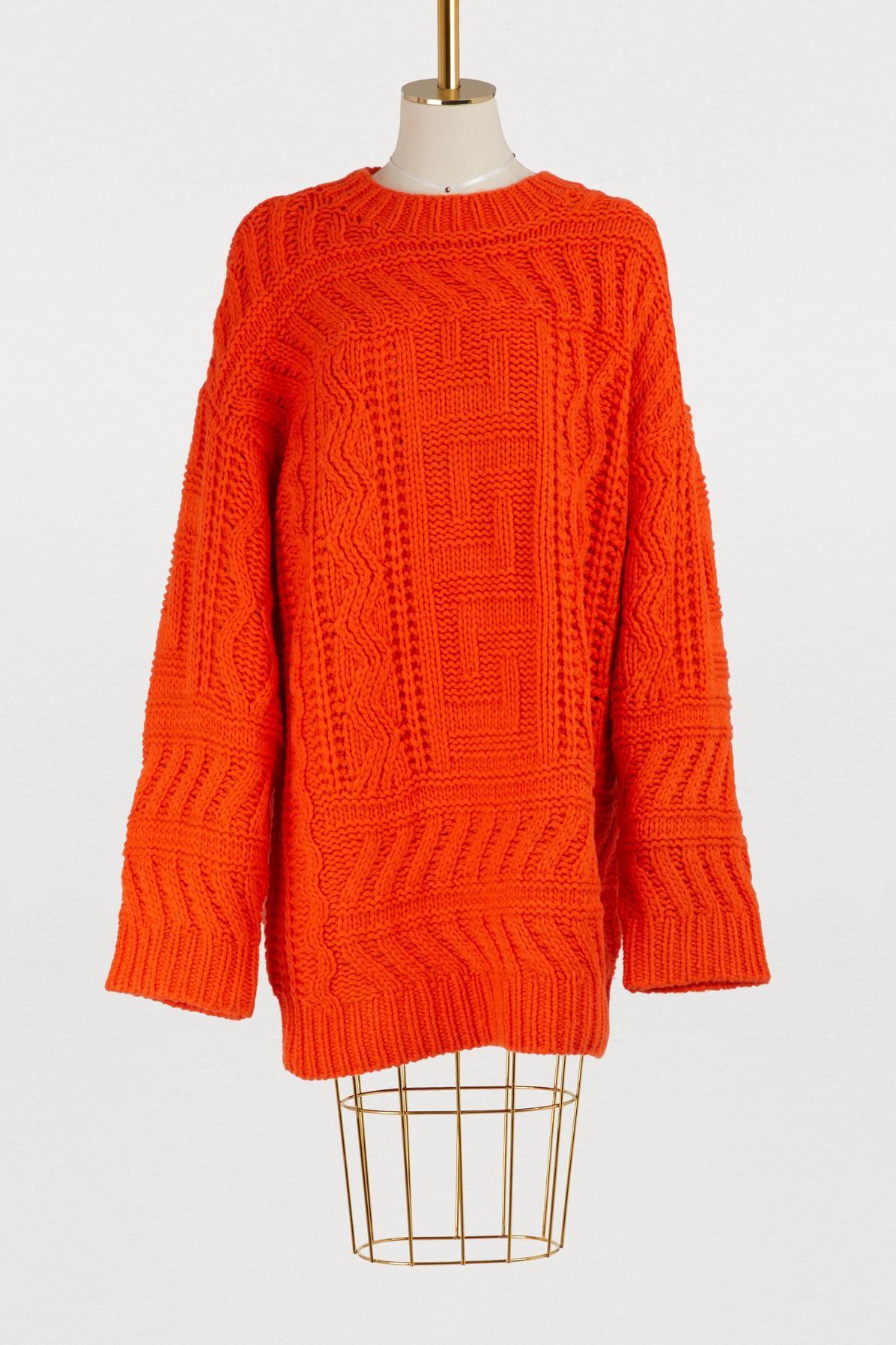 Etudes Studio Larry Oversized Sweater In Orange