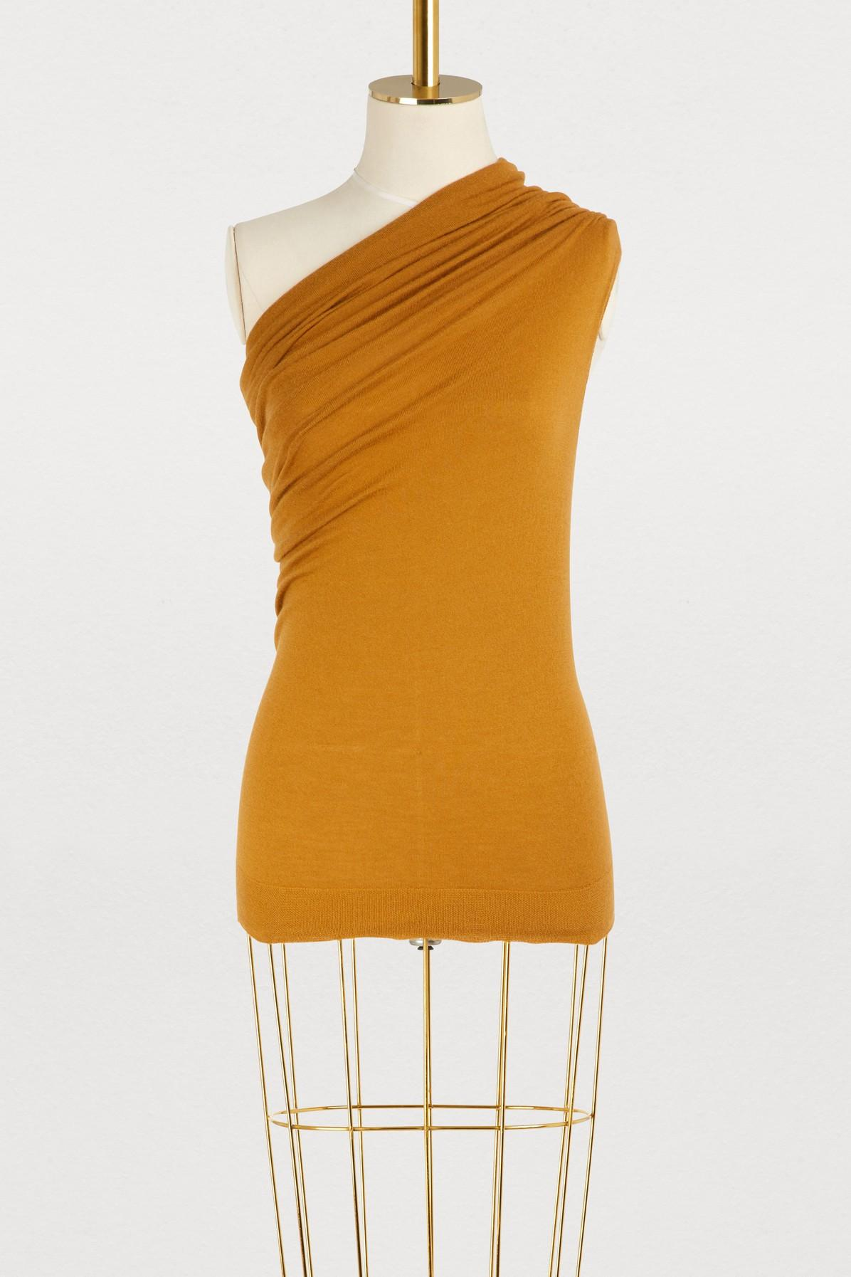 Rick Owens Cashmere Top In Topaze