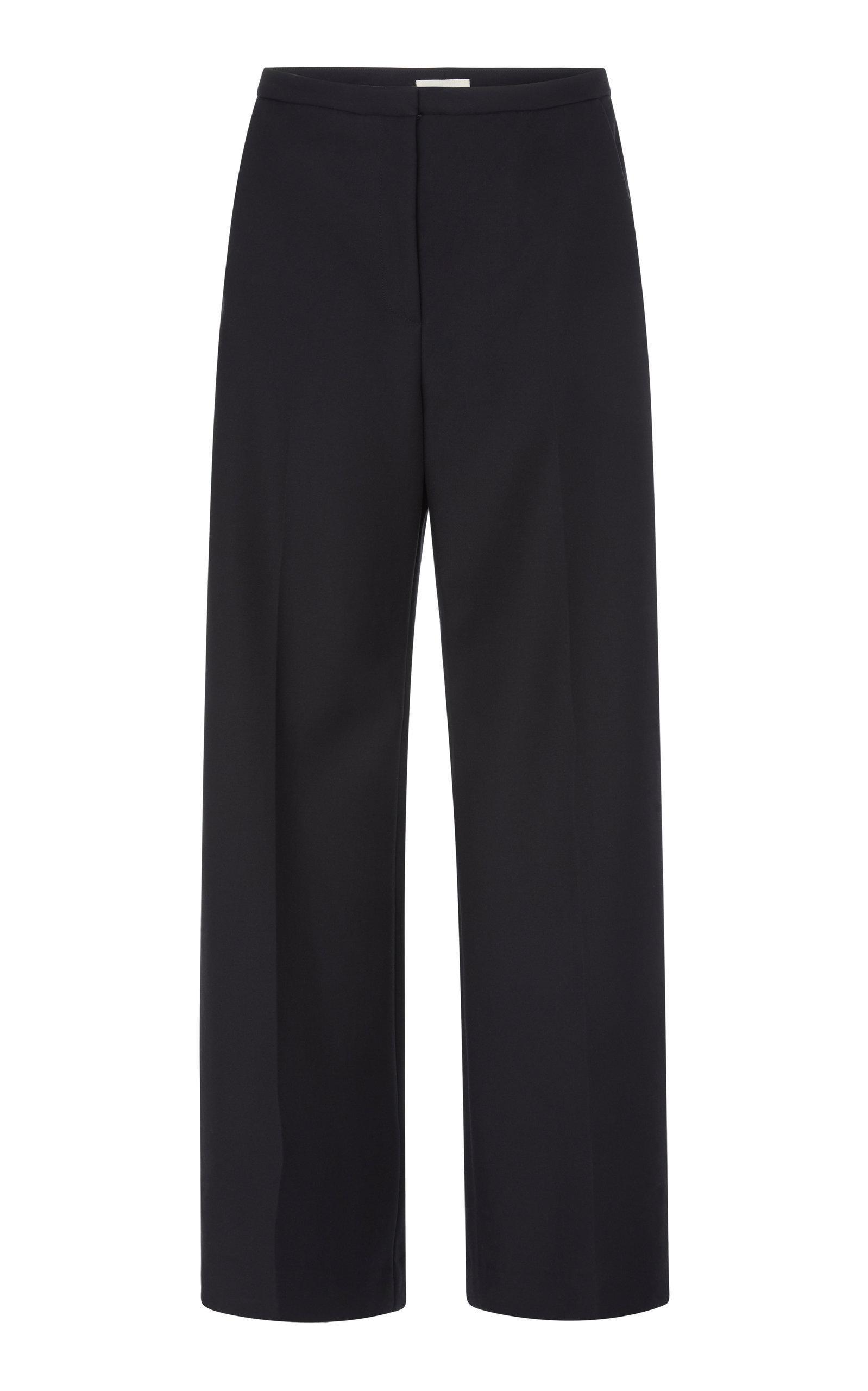 Khaite Charlize High-rise Straight-leg Pants In Black