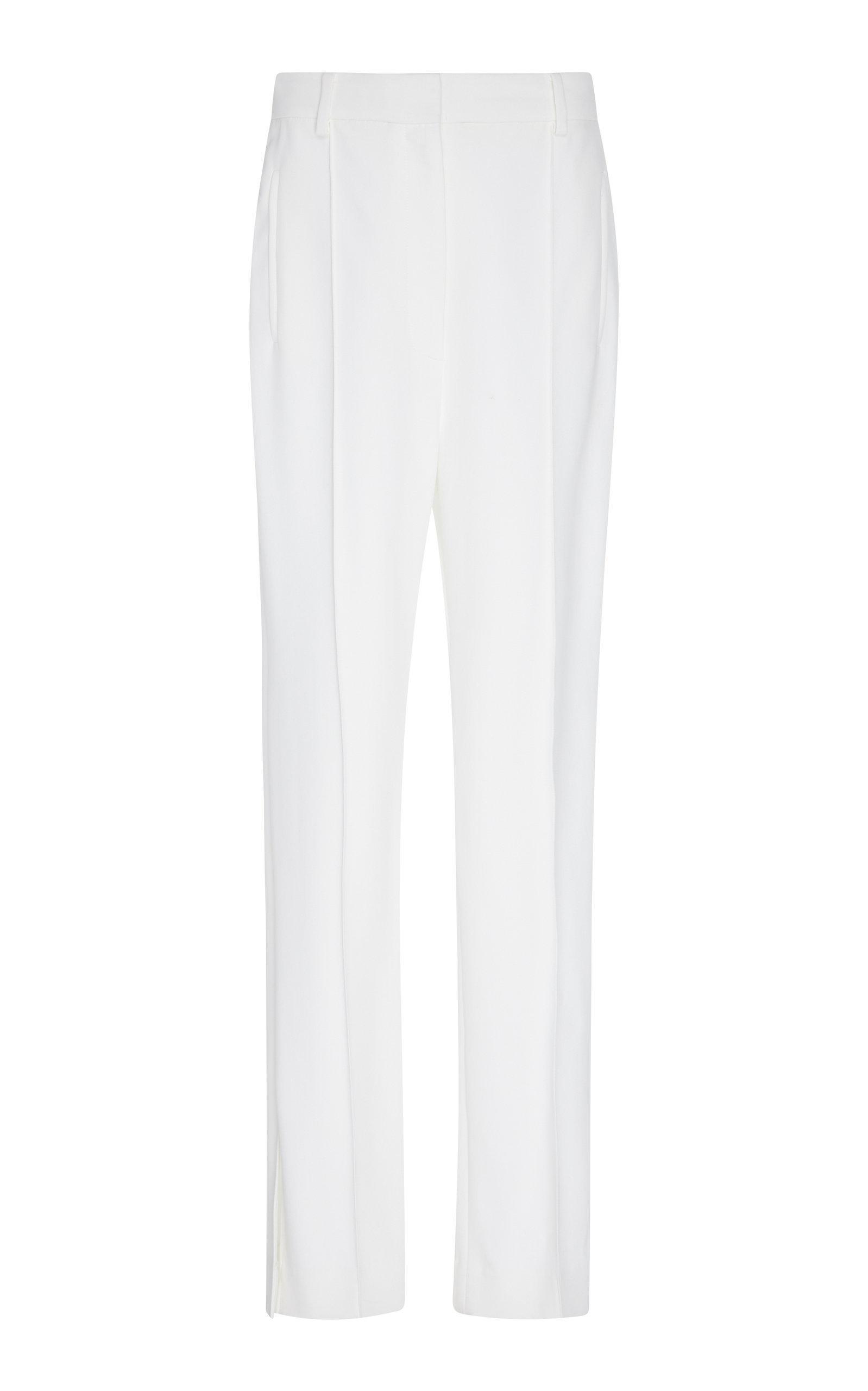 Khaite Carla High-rise Straight-leg Pants In White