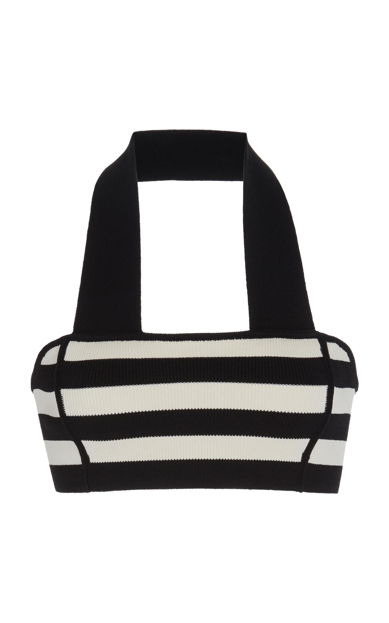 Khaite Janet Striped Knit Halter Bralette