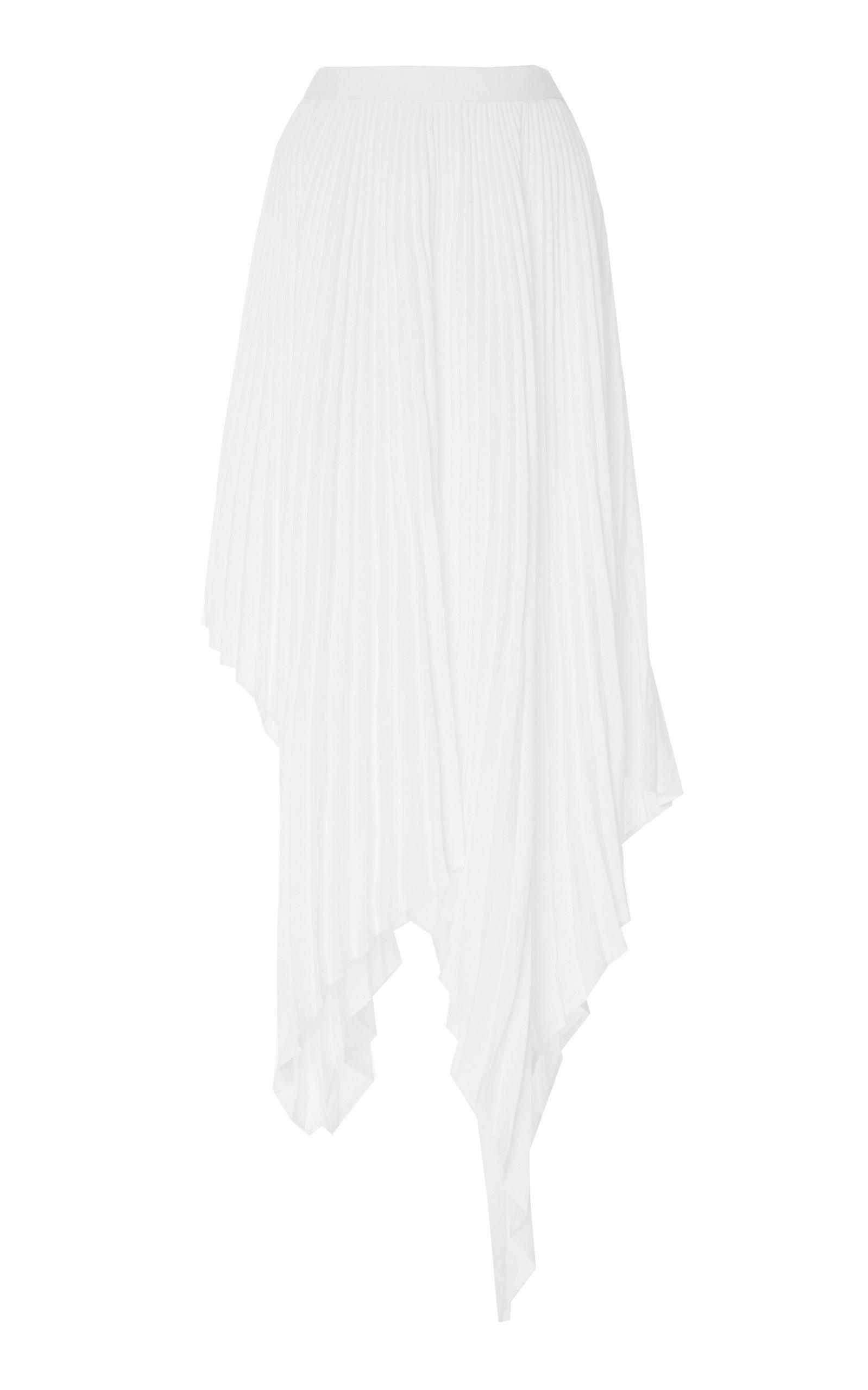 Pyer Moss High-low Plisse Napkin-hem Skirt In White