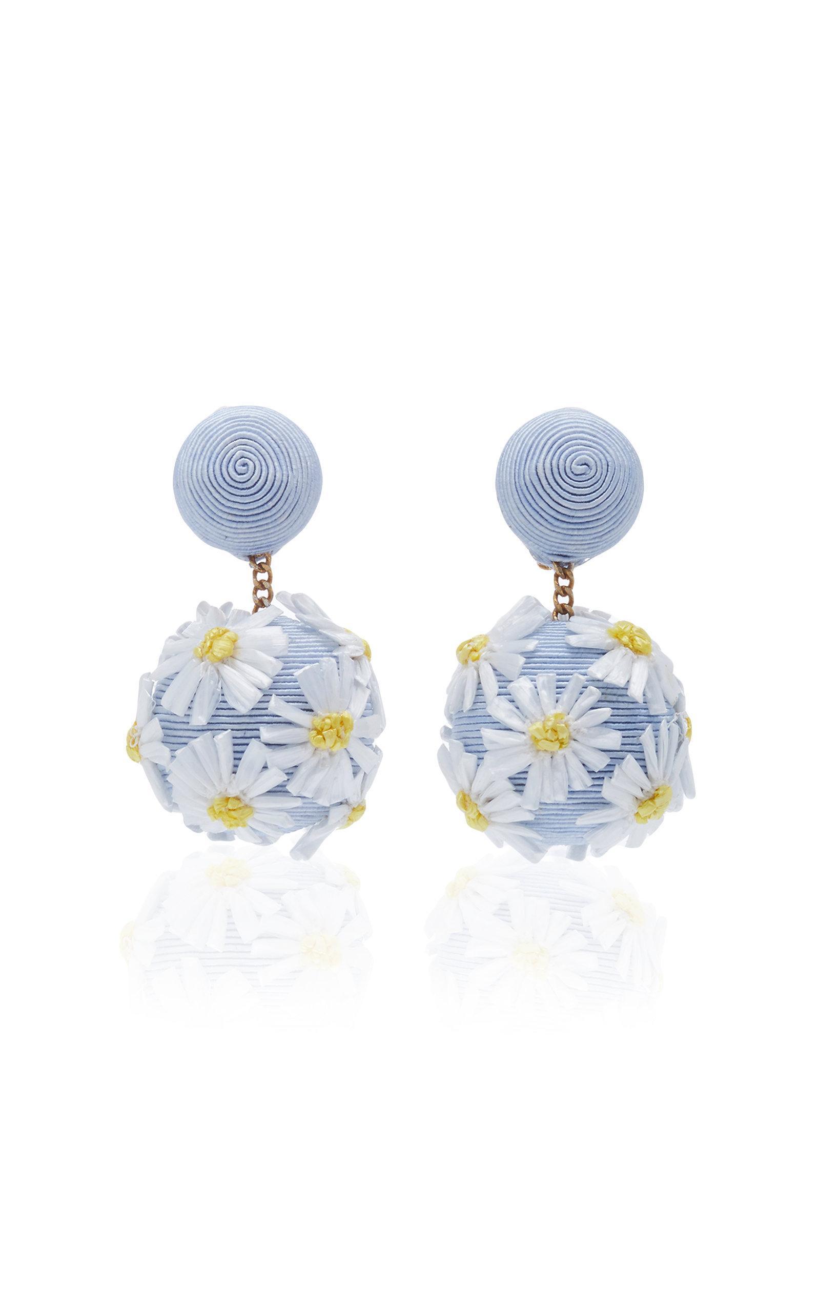 Rebecca De Ravenel Forget Me Not Earrings In Blue