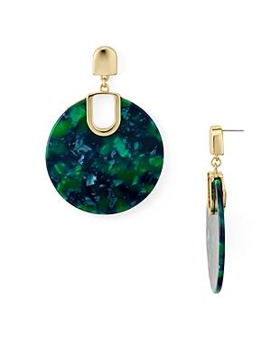 Aqua Marled Disc Drop Earrings - 100% Exclusive In Green/gold