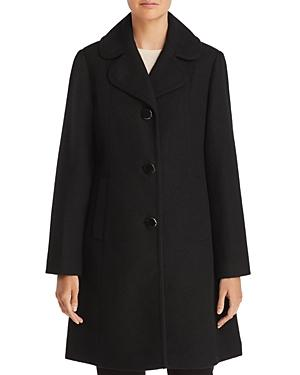 Kate Spade New York Notched Collar Coat In Black