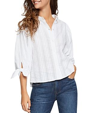 50a31ce6 Bcbgeneration 80's Oversized Button-Down Cotton Blouse In White ...
