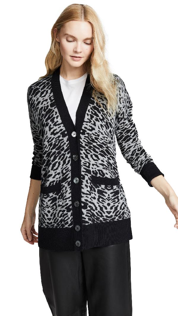 a465c1bad36b Equipment Fenwick Leopard-Print Cardigan In Heather Grey/Black ...