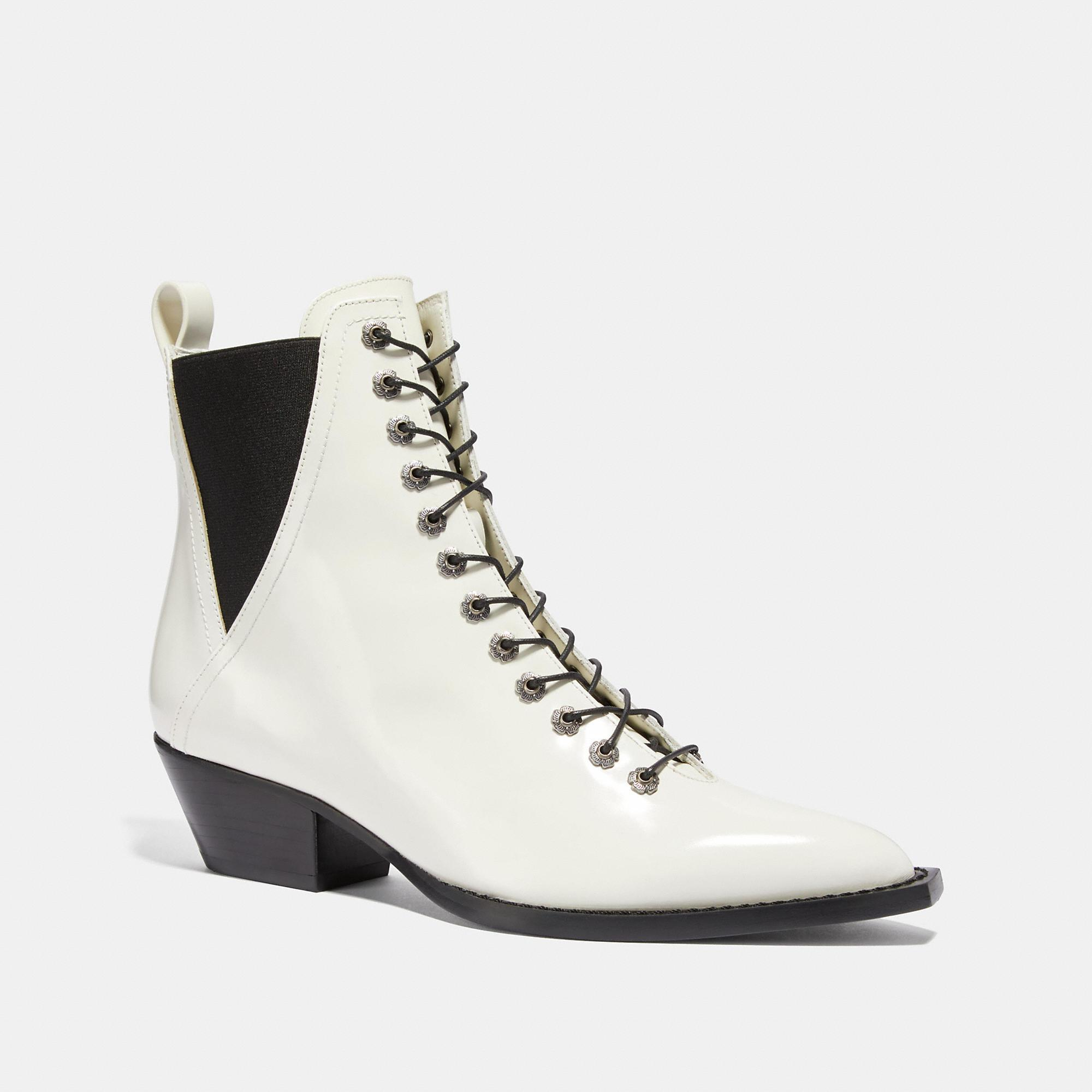 Coach Lace Up Bootie - Women's In Ivory