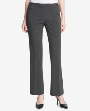 Calvin Klein Petite Menswear-plaid Modern Pants In Charcoal Multi