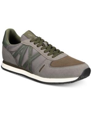 Armani Exchange Men's Ax Jogger Sneakers Men's Shoes In Camo Blue