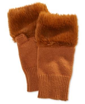 Steve Madden Faux Fur Hand Warmer In Rust