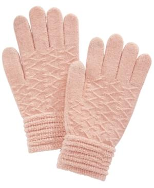 Steve Madden Zigzag Touchscreen Gloves In Blush