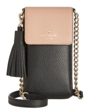 online store 97095 a61be Kate Spade New York North South Iphone 6/6 Plus/7/7 Plus/8 Mini Pebble  Leather Crossbody in Gingteablk
