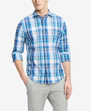 Tommy Hilfiger Men's Classic Fit Sonny Plaid Shirt, Created For Macy's In Collection Blue