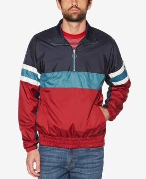 Original Penguin Men's Colorblocked Quarter-zip Jacket In Biking Red