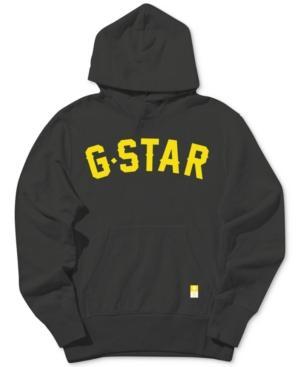 G-star Raw Men's Graphic Logo Hoodie In Black Grey
