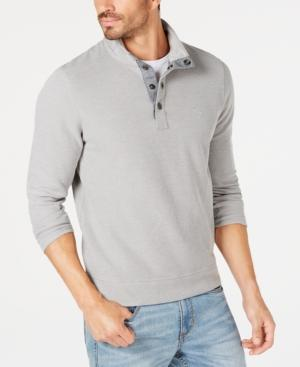 Tommy Bahama Men's Cold Spring Mock Neck Knit, Created For Macy's In Heron Gray