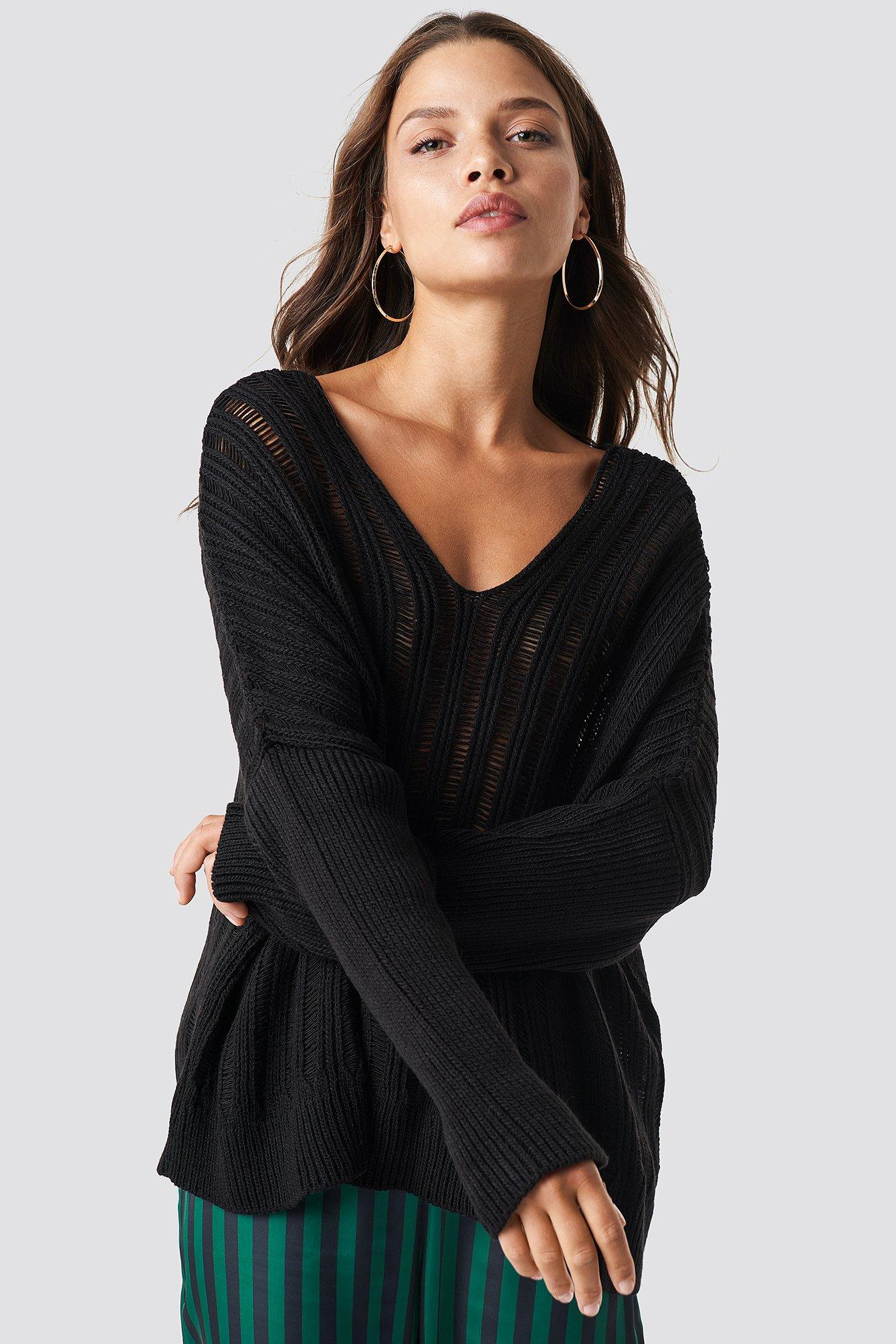 Trendyol Yaka Sweater - Black