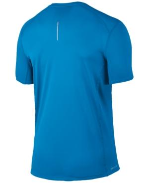 Nike Men's Dry Miler Running T-shirt In Equator Blue