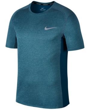 Nike Men's Dry Miler Running T-shirt In Blue Force