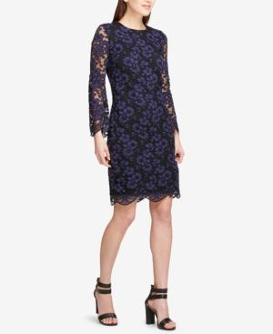 Long Sleeve Lace Sheath Dress Created For Macys In Blueberry