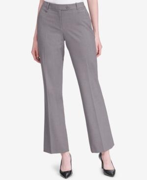 Calvin Klein Straight-leg Pants In Light Heather Grey
